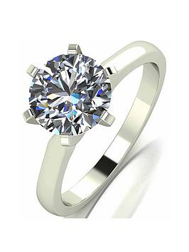 Moissanite Moissanite 18 Carat White Gold 2 Carat Moissanite Ring Picture