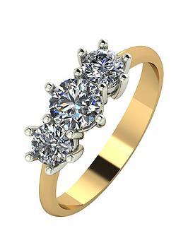 moissanite-18-carat-yellow-gold-1-carat-trilogy-ring