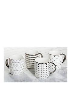waterside-metallic-silver-mugs-ndash-set-of-4