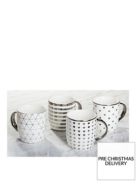 waterside-metallic-silver-mugs-ndash-set-of-4