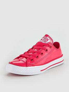 converse converse chuck taylor patent all star junior - ox