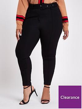ri-plus-tapered-ponte-trousers-black