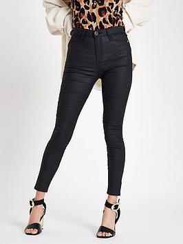 river-island-harper-regular-leg-skinny-jeans-black