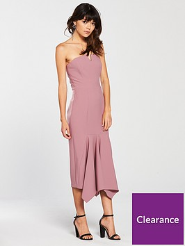 river-island-river-island-strapless-fishtail-fitted-dress-pink