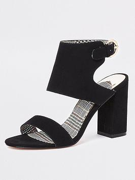 river-island-faux-suede-two-part-heel-sandals-black