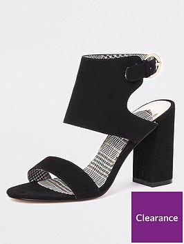 river-island-faux-suede-two-part-heel-sandals-black