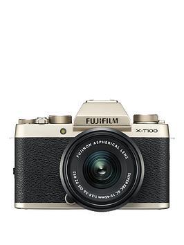 fujifilm-fujifilm-x-t100-champagne-gold-with-black-xc15-45mm-lens