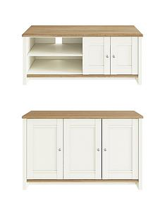 consort-tivoli-new-2-piece-package-ready-assembled-3-door-sideboard-and-wide-tv-unit-creamoak-effect