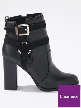 miss-selfridge-miss-selfridge-harness-buckle-mid-heel-boot
