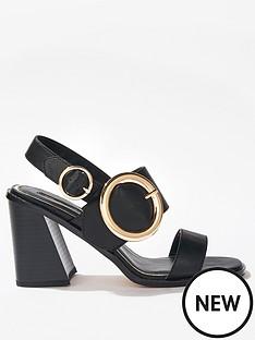 miss-selfridge-circle-buckle-block-heel-sandal-black