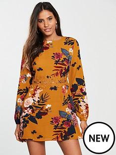 ax-paris-ax-paris-floral-printed-crochet-waist-dress
