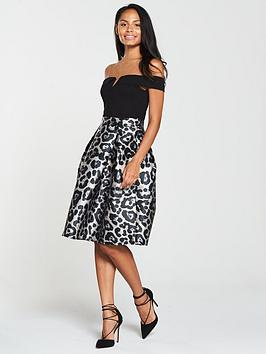 ax-paris-2-in-1-printed-midi-skirt-dress-blacknbsp