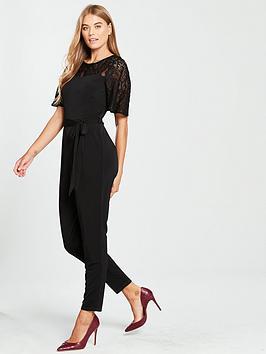 wallis-lace-yoke-jumpsuit-black