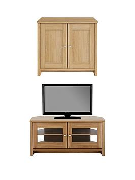consort-tivoli-new-2-piece-package-ready-assembled-2-door-sideboard-and-corner-tv-unit-oak-effect
