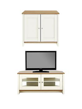 consort-tivolinbspnew-2-piece-package-ready-assembled-2-door-sideboard-and-corner-tv-unit-creamoak-effect