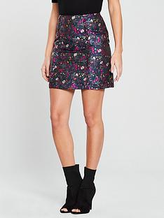 oasis-jacquard-ditsy-mini-skirt