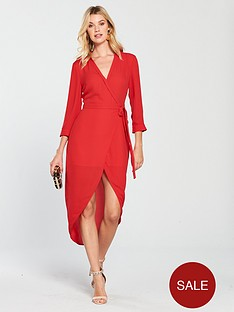 oasis-wrap-shirt-dress-red