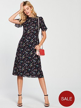 oasis-high-neck-midi-dress-ditsy-floral-print