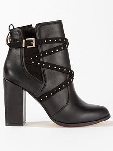 miss-selfridge-multi-strap-boot-black