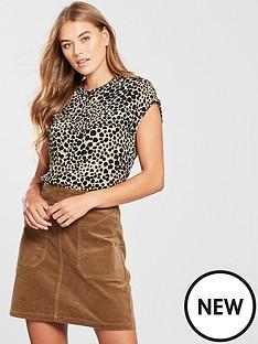 warehouse-leopard-print-blouse