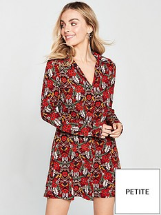 ax-paris-ax-paris-petite-floral-printed-shirt-dress