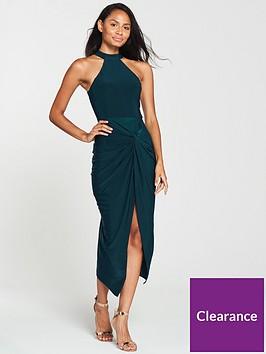 ax-paris-knot-front-slinky-dress