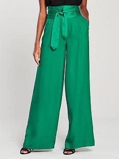 v-by-very-wide-legged-belted-high-waist-trousers-green