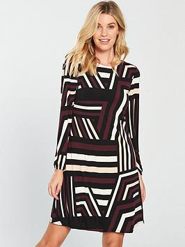 wallis-colour-block-swing-dress