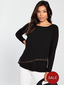 wallis-asymmetric-stud-layerednbsptop-black
