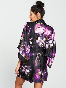 e6a1ccb3b3bd1 ... B By Ted Baker Sunlit Floral Kimono - Black Print. View larger