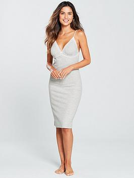 v-by-very-lace-trim-rib-chemise-grey