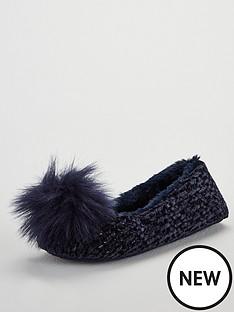 v-by-very-wick-pom-pom-ballerina-slipper