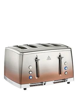 Russell Hobbs   Copper Sunset Eclipse 4 Slice Toaster - 25143