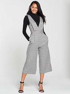 miss-selfridge-check-pinny-jumpsuit-grey