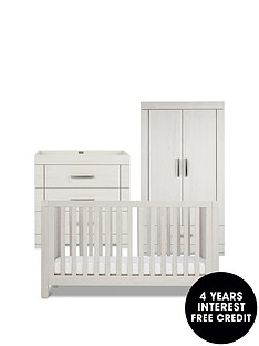 silver-cross-coastline-cot-bed-dresser-wardrobe