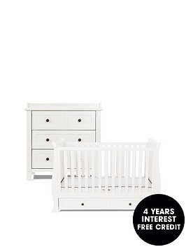 silver-cross-nostalgia-sleigh-cot-bed-dresser-pure-white