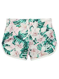 hype-girls-palm-print-runner-short-multi-coloured