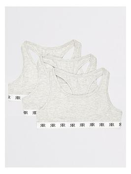 River Island River Island Girls Grey Racer Back Crop Top Multipack Picture
