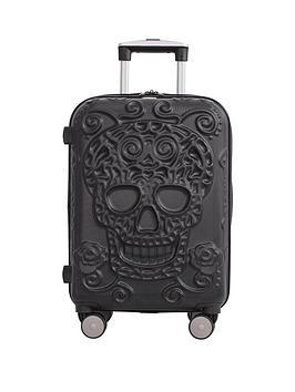 it-luggage-skulls-8-wheel-hard-shell-expander-cabin-case