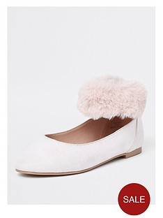 river-island-girls-faux-fur-cuff-ballerina-shoe