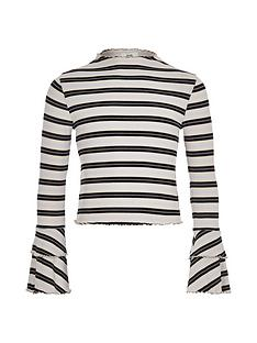 river-island-girls-stripe-rib-frill-long-sleeve-top