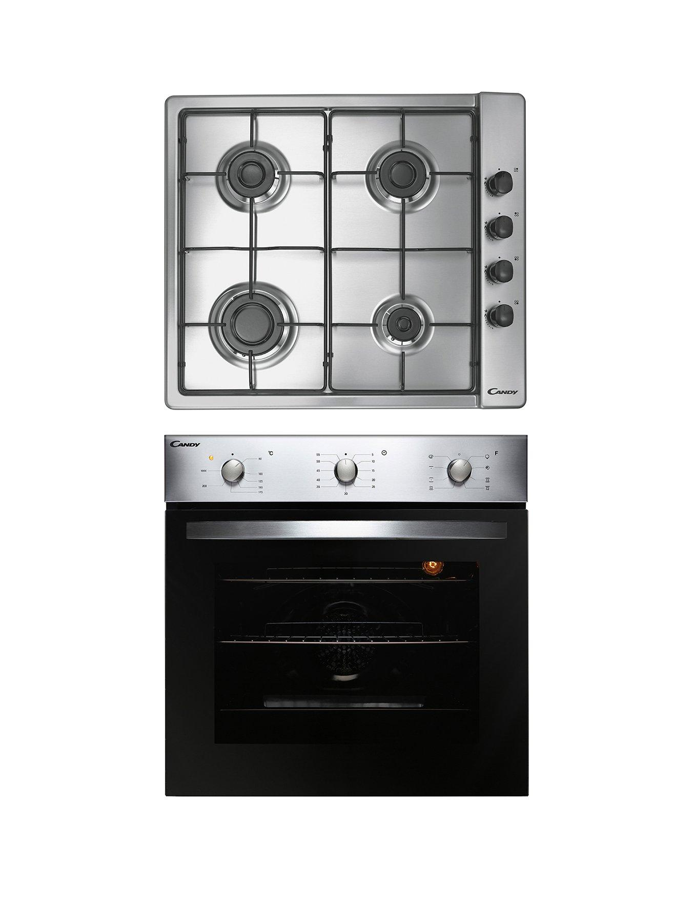 4  Oven Cooker Hob Control Knob for INDESIT BEKO  Stainless Steel effect Silver