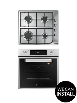 hoover-hprgm60ss-60cm-electric-single-oven-amp-gas-hob-pack-with-optional-installation-stainless-steel