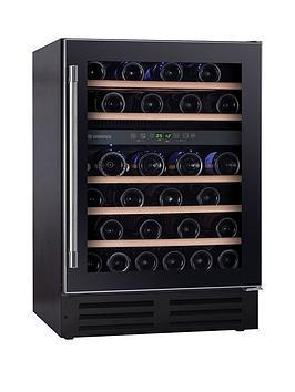 Hoover   H-Wine 700 Hwcb60Uk 60Cm Wide Integrated Wine Fridge Cooler - Black - Wine Cooler Only