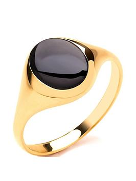 Love GOLD Love Gold 9Ct Gold Round Onyx Signet Ring Picture