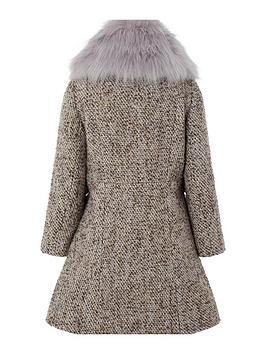 5ce800e43c77 Monsoon Lavender Tweed Coat