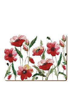 creative-tops-creative-tops-watercolour-poppy-pack-of-6-premium-placemats