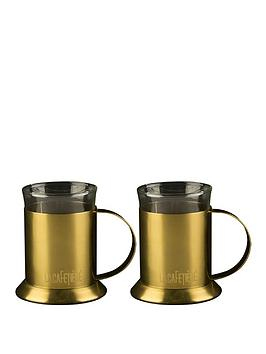 kitchencraft-edited-set-of-2-glass-cups-brushed-gold
