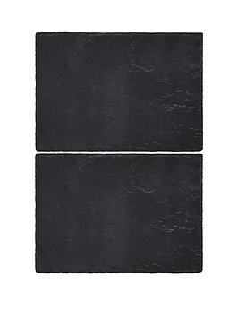 Creative Tops Creative Tops Naturals &Ndash; Pack Of 2 Slate Placemats Picture