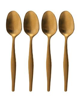 kitchencraft-edited-set-of-4-tea-spoons-brushed-gold